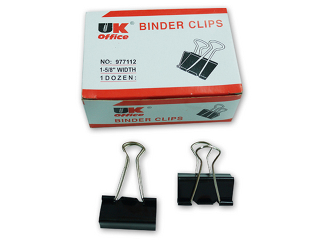 Binder Clip 12 Box Black 1 5 8 Quot Office Warehouse Inc