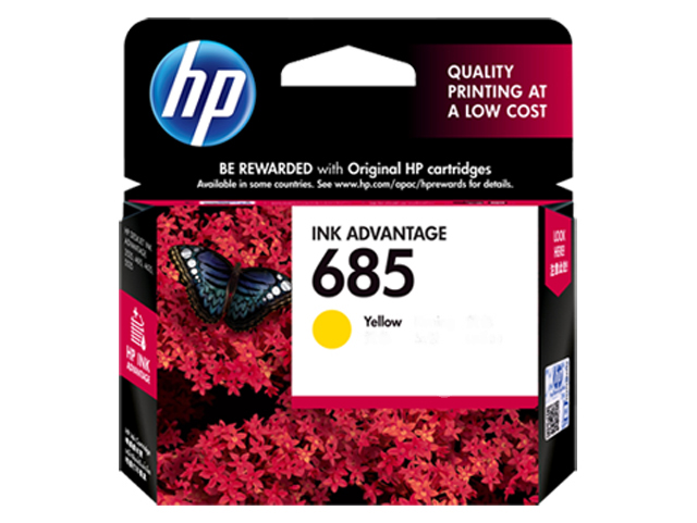 HP 685 Ink Cartridge HPCZ124AA Yellow