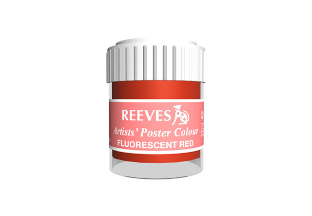 Reeves Poster Color Flourscent Red 22ml