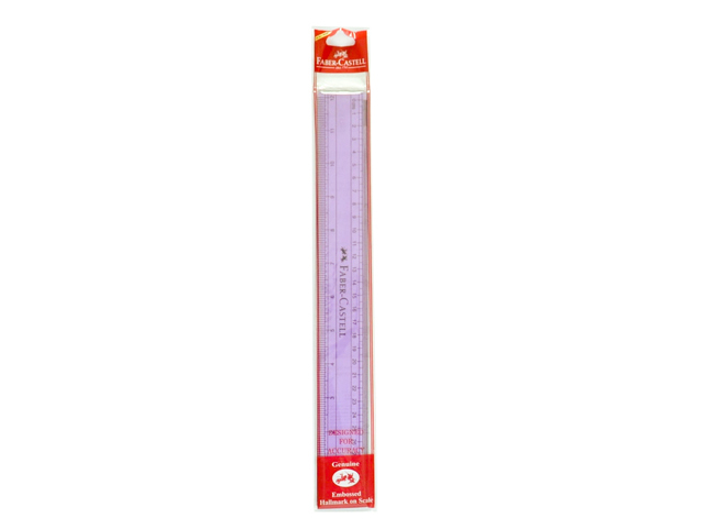 Faber Castell Ruler 171220 Acrylic Colors Assorted 12 in.