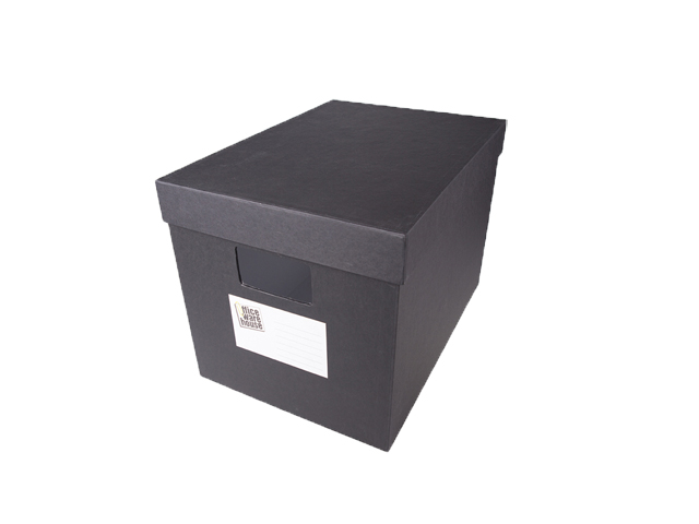 Office Warehouse  Storage Box w/Lid Black Legal