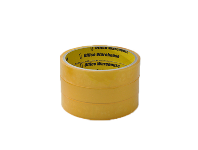 Office Warehouse Celo Tape 3core 3 pcs per pack Yellow 18mm x 20m