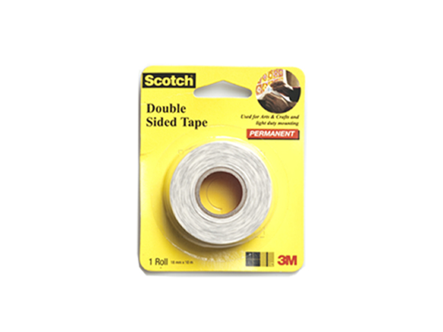 3m scotch double sided tape white 18mm x 10m office. Black Bedroom Furniture Sets. Home Design Ideas