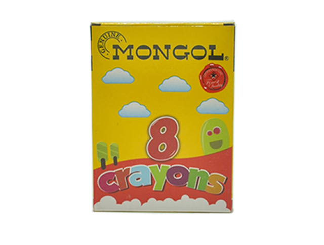 Mongol Crayon 8 Color 8/Box