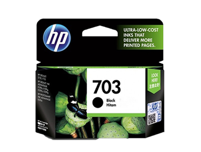HP 703 Ink Cartridge CD887AA Black