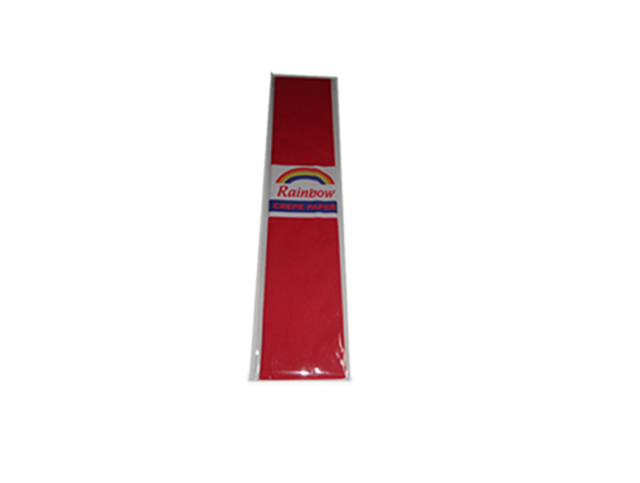 Rainbow Crepe Paper Red 500 x 2440