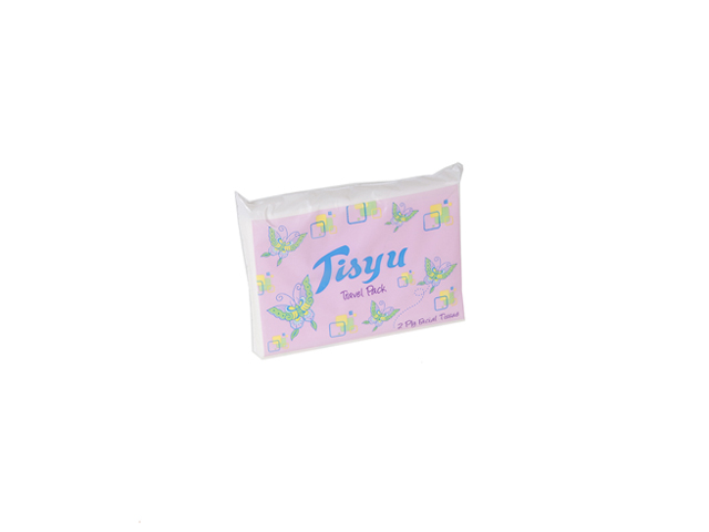 Tisyu Tissue Travel Pack 2 ply 100/Sheets