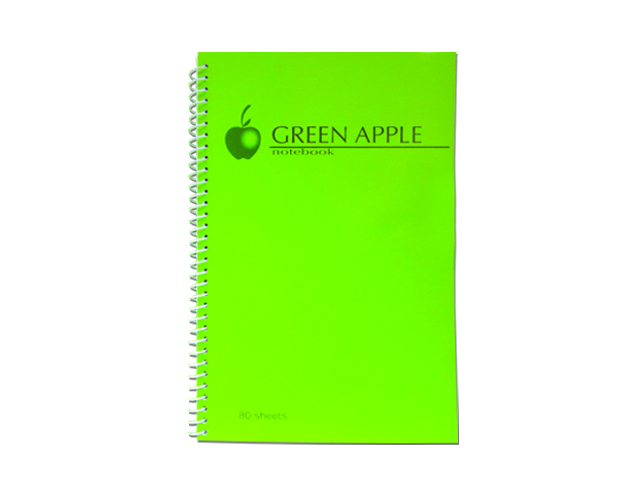 Green Apple Notebook Spiral G0680 80 Leaves 152 x 216m