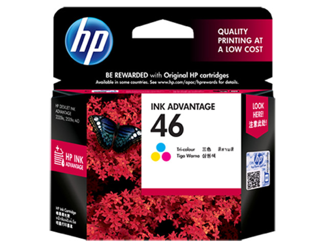 HP 46 Ink Cartridge CZ638 Colored