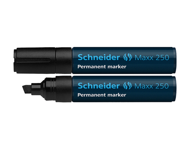Schneider Permanent Marker 250 Chisel/Black 2-7mm