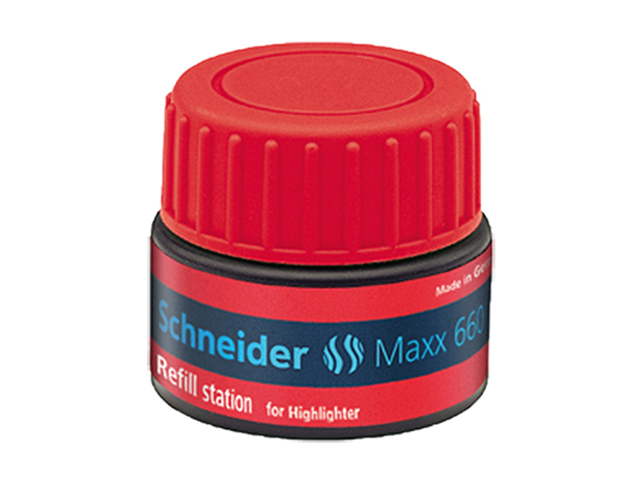 Schneider Max 660 Highlighter Refill Station Job 150 Red