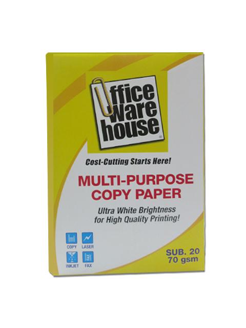Office Warehouse Copy Paper  Sub-20/70g A4 /500 pcs per ream