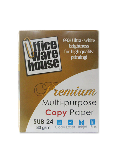 Office Warehouse Copy Paper Sub-24/80g Letter /500 pcs per ream