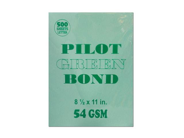 pilot colored bond paper letter green 54gsm 500s office warehouse