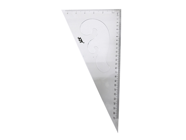 JOY RULER TRIANGLE 2030 30CM CLEAR