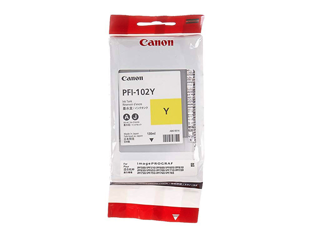 Canon Ink PFI-102Y Yellow