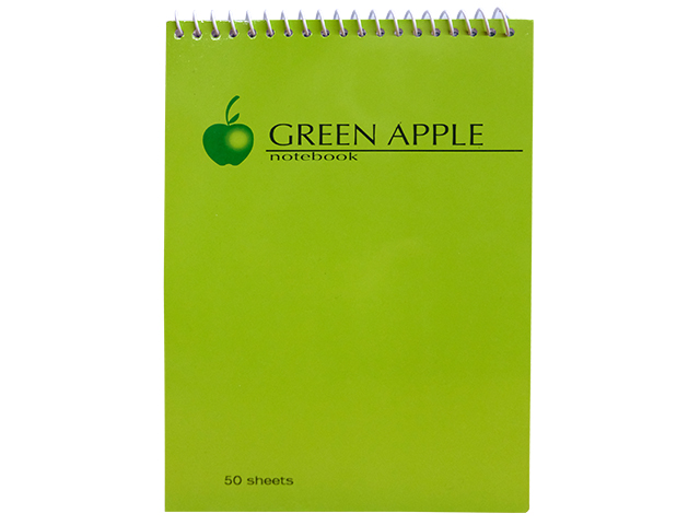 Green Apple Notebook Spiral G-0580-OE 80 Leaves 127 x 178m
