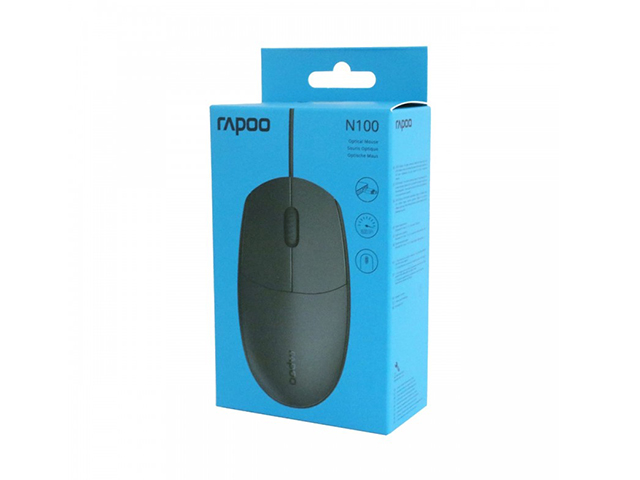 Rapoo Mouse Wired N100 Black