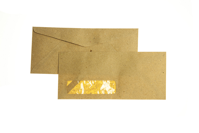 Excelline Letter Envelope #10 w/Window Kraft 10/pack