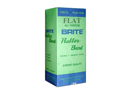 Brite Rubberband Flat Brown 350gms