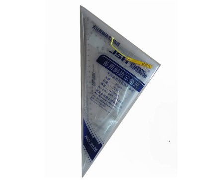Ruler Triangle Set 9603/T-2025 Clear 2 pack