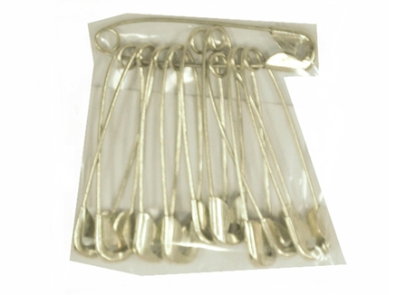 Fevelin Safety Pin Small Silver 10 per pack
