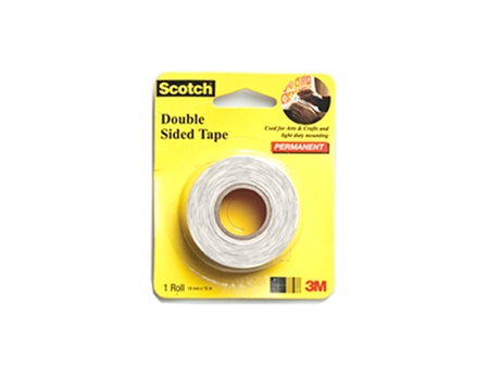 3M Scotch Double Sided Tape White 18mm x 10m