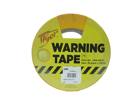 Tiger Warning Tape Caution Yellow 76.2mmx305m