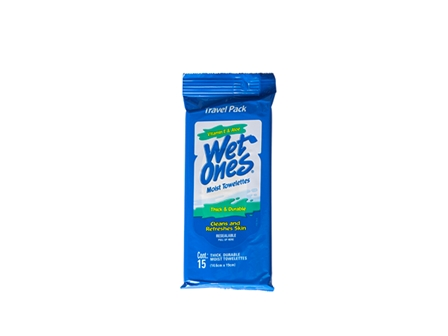 Wet Ones Wet Tissue 15's White 14.6 x 19