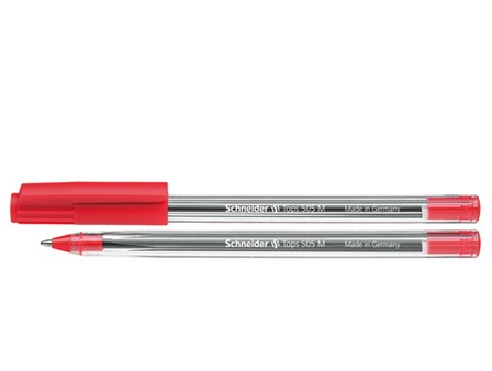 Schneider Ballpen Tops 505M #150602 Red Medium
