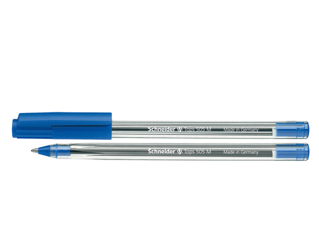 Schneider Ballpen Tops 505M #150603 Blue Medium