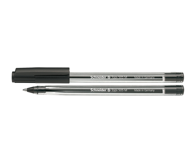 Schneider Ballpen Tops 505M #150601 Black Medium