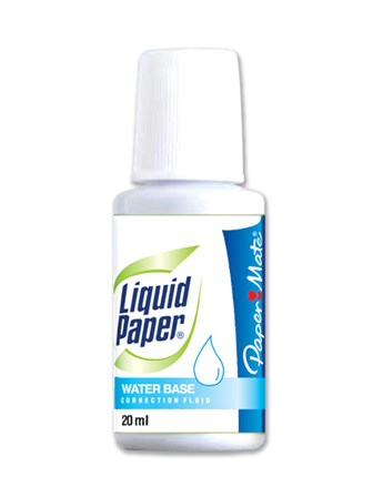 Liquid Paper Correction Fluid Water Base 051 Bondwhite 20ml