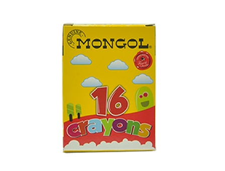 Mongol Crayon 16 Color 16/Box