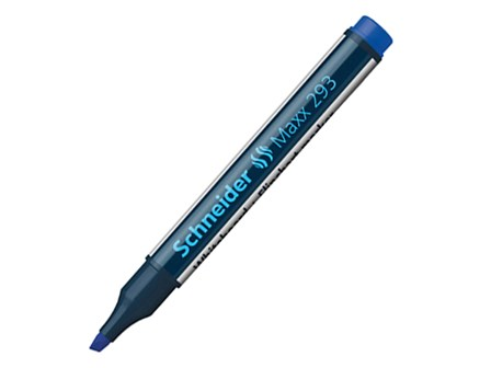 Schneider White Board Marker 293 Chisel Blue 1-4mm