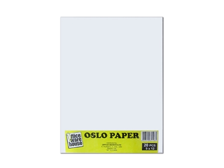 Office Warehouse Oslo Paper  White 9 x 12 20 pack