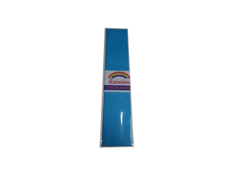 Rainbow Crepe Paper Lightblue 500 x 2440