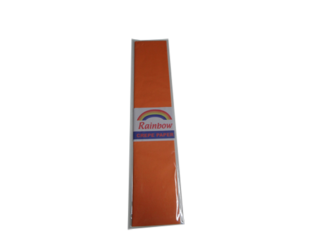 Rainbow Crepe Paper Orange 500 x 2440