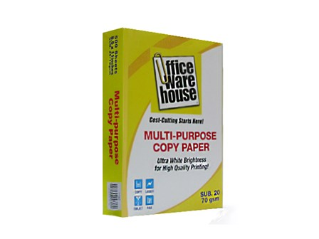 Office Warehouse Copy Paper  Sub-20/70g Letter /500 pcs per ream