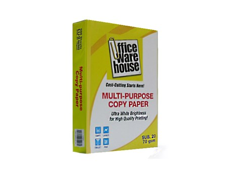 Office Warehouse Copy Paper  Sub-20/70g Legal  /500 pcs per ream