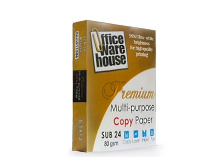 Office Warehouse  Copy Paper Sub-24/80g Legal /500 's pcs per ream