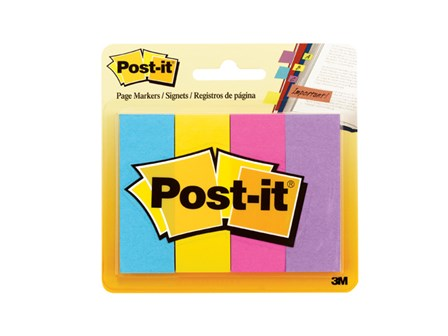 3M Post-it Page Marker 671-4AU 4Colors 3/ 4 x 2