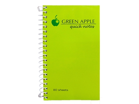 Green Apple Notebook Spiral G-280 Mini Green 76 x 127mm
