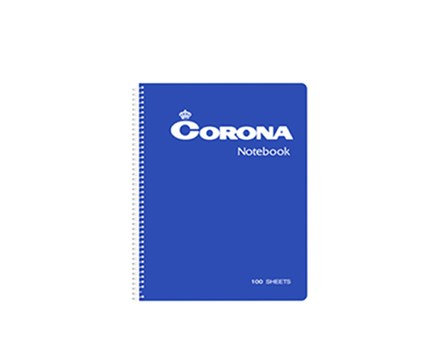 Corona Notebook Spiral#5100 100 Leaves 152 x 216m