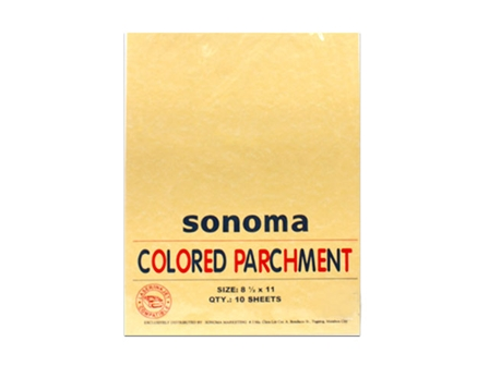 Sonoma Colored Parchment Paper 90gsm Letter 10s Ochre