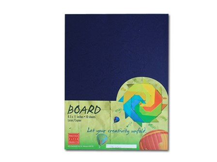 Prestige Binder Morrocan Cover 300gsm Royal Blue Letter 10's