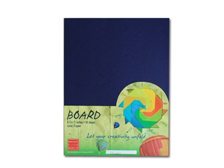 Prestige Binder Morrocan Cover 300gsm Royal Blue Legal 10's