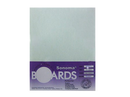 Sonoma -Board Parchment 180gsm Green / Letter 10's