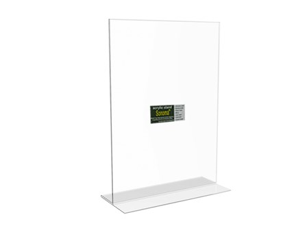 Sonoma Acrylic Menu Stand Back to Back A4