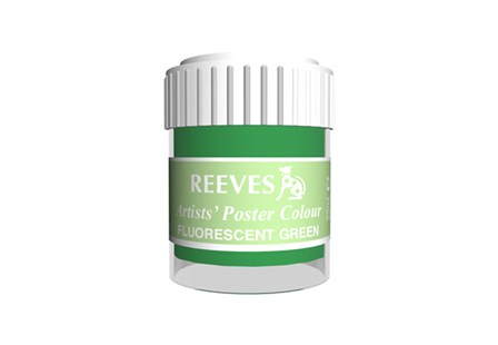 Reeves Poster Color Flourscent Green 22ml